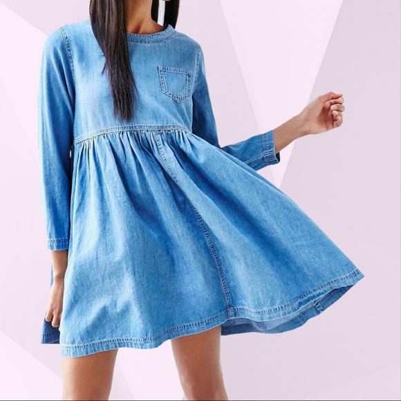 BDG Blue Jean Babydoll Dress